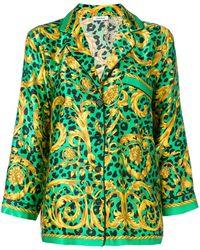 P.A.R.O.S.H. Printed Pyjama Shirt - Green