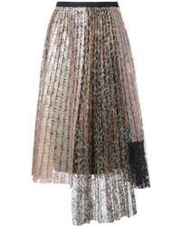 Antonio Marras - Lace Pleated Skirt - Lyst