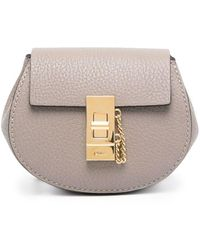 Chloé Mini sac à bandoulière Drew - Gris