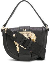 Versace Jeans Embellished Buckle Tote Bag - Black