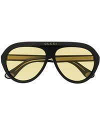 Gucci Gafas de sol estilo aviador - Negro