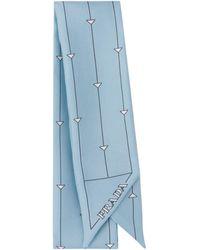 Prada プリント スカーフ - ブルー