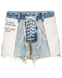 Unravel Project Denim Shorts - Blauw