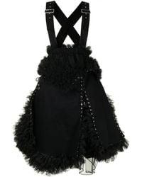 Comme des Garçons Lace-up Ruffle-layered Dress - Black