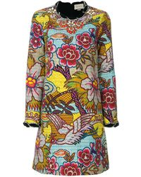 Gucci Embellished floral print dress - Multicolore