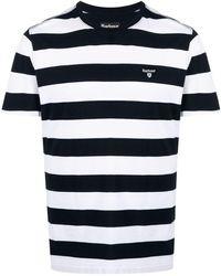 Barbour ロゴパッチ Tシャツ - ホワイト