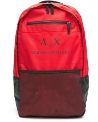 Armani Exchange ロゴ バックパック - レッド