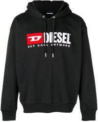 DIESEL Not Cool Anymore パーカー - ブラック