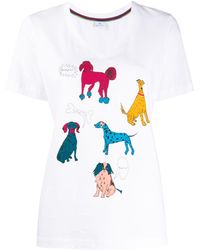 PS by Paul Smith プリント Tシャツ - ホワイト