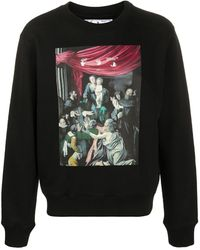 "Off-White c/o Virgil Abloh T-Shirt mit ""Caravaggio""-Print - Schwarz"