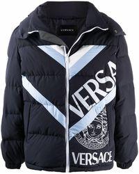 Versace - Пуховик С Логотипом - Lyst
