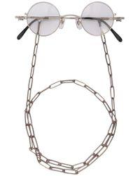 Taichi Murakami Omega Glasses - Metallic