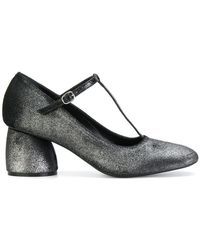 Strategia - Glitter-effect Buckled Court Shoes - Lyst