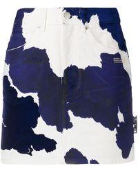 Off-White c/o Virgil Abloh - Denim Cow Mini Skirt Beige Blue - Lyst