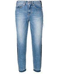 SJYP - Side-stripe Cropped Jeans - Lyst