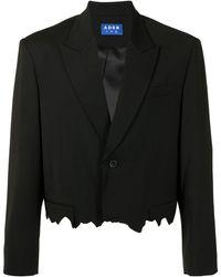 ADER error Crop Cinder シングルジャケット - ブラック