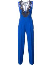 La Perla レーストリム ジャンプスーツ - ブルー