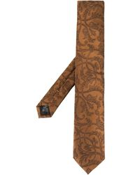 Dolce & Gabbana Jacquard Blade Tie - Brown