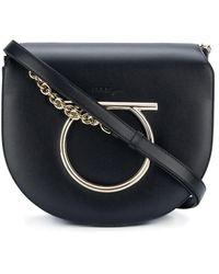 Ferragamo Gancini Flap shoulder bag - Noir