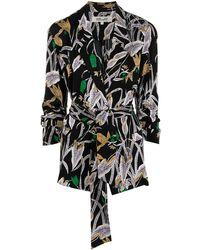Diane von Furstenberg - フローラル ラップシャツ - Lyst