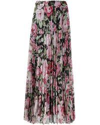 P.A.R.O.S.H. Long Pleated Skirt - Multicolour