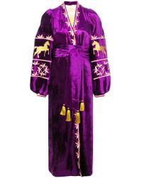 Yuliya Magdych - Kaleidescope Embroidered Kimono Dress - Lyst