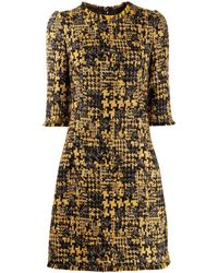 Dolce & Gabbana - ツイードドレス - Lyst