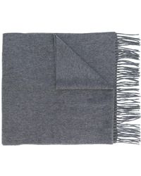 N.Peal Cashmere Large Woven Scarf - Серый