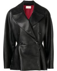Sara Battaglia - Double Breasted Coat - Lyst
