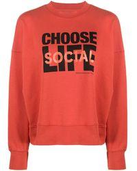 WOOD WOOD X Katharine Hamnett Choose Life Sweatshirt - Red