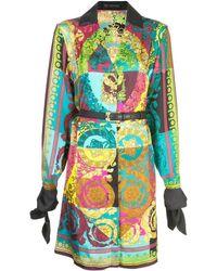 Versace Voyage Barocco printed shirt dress - Mehrfarbig