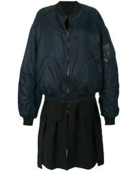 Juun.J Two Piece Bomber Jacket - Black