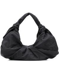 Simone Rocha Large Pleated Shoulder Bag - Black