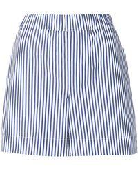 P.A.R.O.S.H. - Striped Short Shorts - Lyst