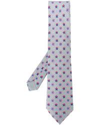 Hermès 2000er Krawatte mit Print - Grau