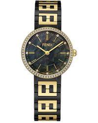 Fendi フォーエバーフェンディ 腕時計 - ブラック