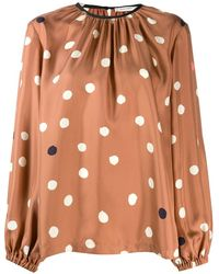 Chinti & Parker Loose-fit Polka Dot Blouse - Multicolour