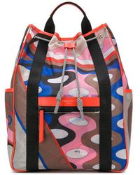 Emilio Pucci Vallauris Print Backpack - Brown