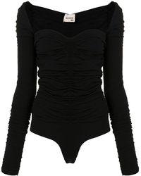 Khaite All-over Ruched Body - Black
