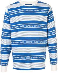 Supreme Divine L/s Tシャツ - ブルー