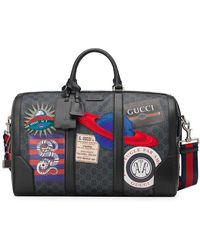 83bdc19a5b3e8f Gucci Techno Canvas Duffle Carry-on Bag in Black for Men - Lyst