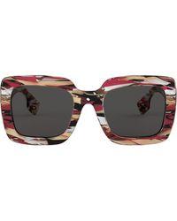 Burberry Солнцезащитные Очки В Массивной Квадратной Оправе - Многоцветный