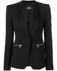 Karl Lagerfeld Logo Tape Blazera - Black