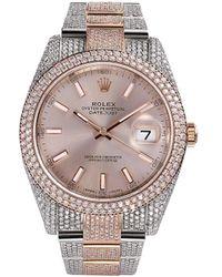 Rolex Montre 777 X DateJust 41 ornée de diamants pre-owned - Métallisé