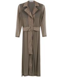 Mara Mac Belted Shirt Dress - Brown