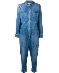 Stella McCartney デニム ジャンプスーツ - ブルー