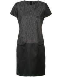 Paule Ka - Mixed Fabric Ed T-shirt Dress - Lyst