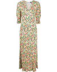 RIXO London フローラル ドレス - グリーン