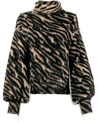 Unravel Project Zebra striped jumper - Nero