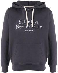 Saturdays NYC Ditch Miller Cotton Hoodie - Gray